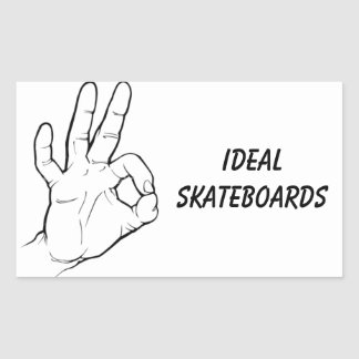 Ideal Skateboard Sticker