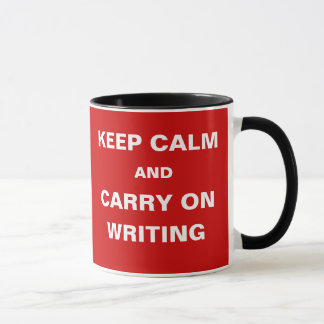 Ideas Drying Up - Keep Calm Carry On Writing Mug