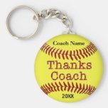 Idées de cadeaux d'entraîneur du base-ball avec le porte-clés