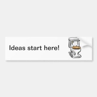 Idées et la toilette autocollant de voiture