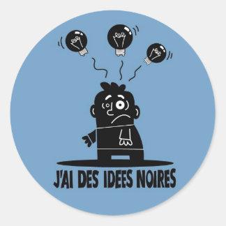 IdeesNoires Classic Round Sticker