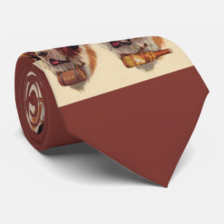 identical twin St. Bernards dogs Tie