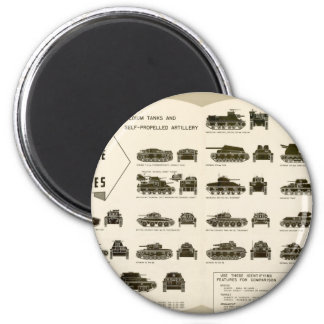 Identification Chart WWII Medium Tanks Magnet