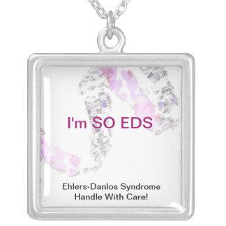 Identification médicale d'EDS Pendentif Carré