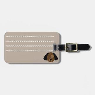 Identificatory label of luggage cachorrinho luggage tag