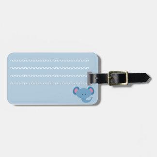 Identificatory label of luggage elefantinho luggage tag
