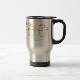 Identité d'affaires de boulangerie de cuisson de mug de voyage en acier inoxydable