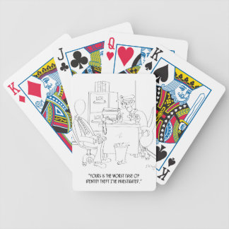 Identity Theft Cartoon 9239 Bicycle Playing Cards