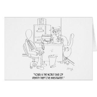 Identity Theft Cartoon 9239 Card