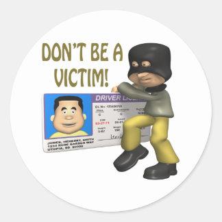 Identity Theft Classic Round Sticker