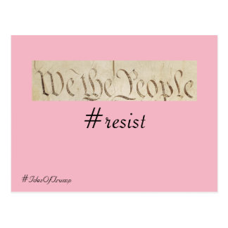 Ides of Trump We the People Resistance Postcard