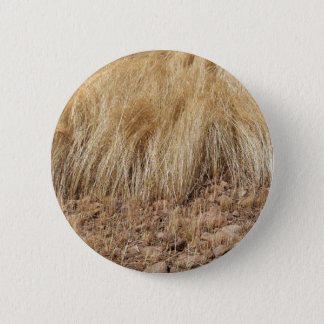 iDetail of a teff field during harvest 2 Inch Round Button