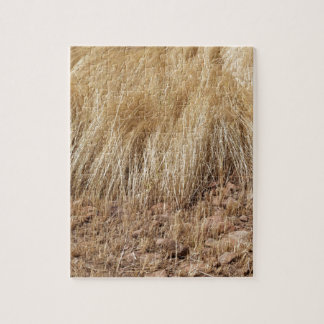 iDetail of a teff field during harvest Jigsaw Puzzle