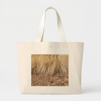 iDetail of a teff field during harvest Large Tote Bag