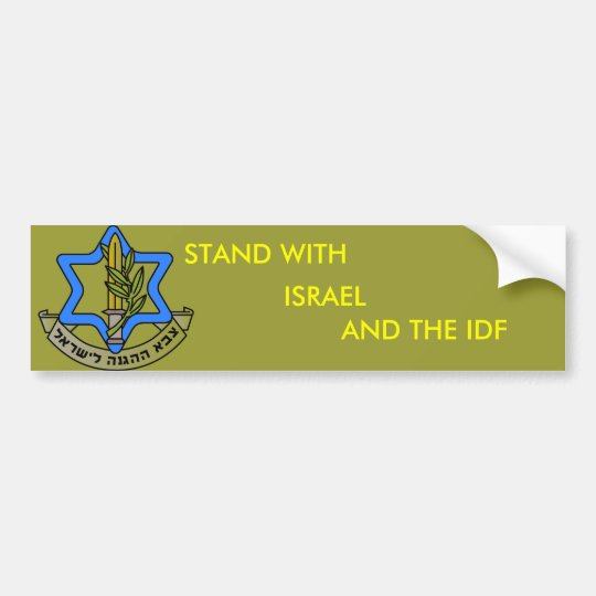 idf bumper sticker