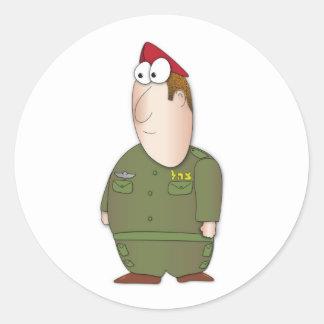IDF Soldier Classic Round Sticker