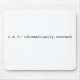 Idiomatically Correct R Programming Mug Mouse Pad