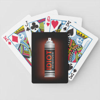 Idiot remover. bicycle playing cards