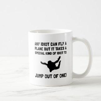 Idiot Skydiving Coffee Mug