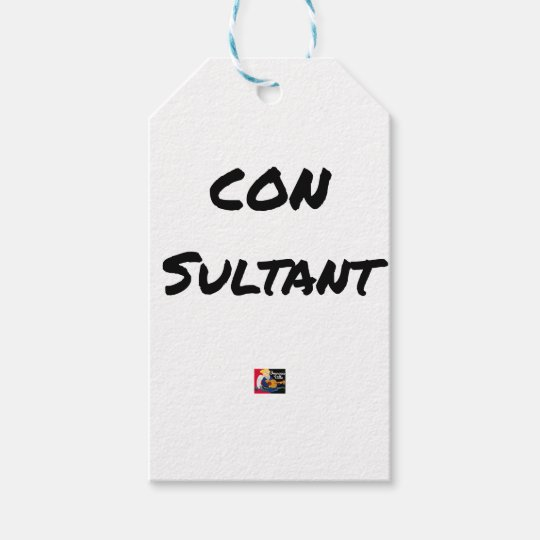 IDIOT SULTANT - Word games - François City Gift Tags