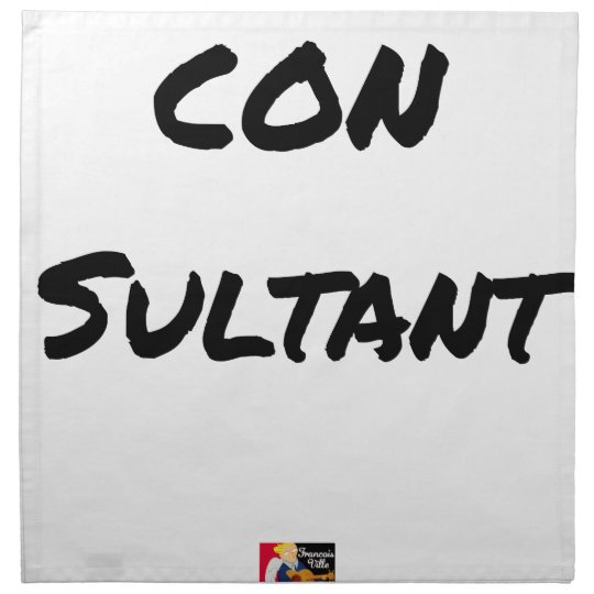 IDIOT SULTANT - Word games - François City Napkin
