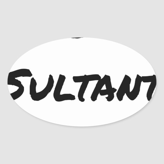 IDIOT SULTANT - Word games - François City Oval Sticker