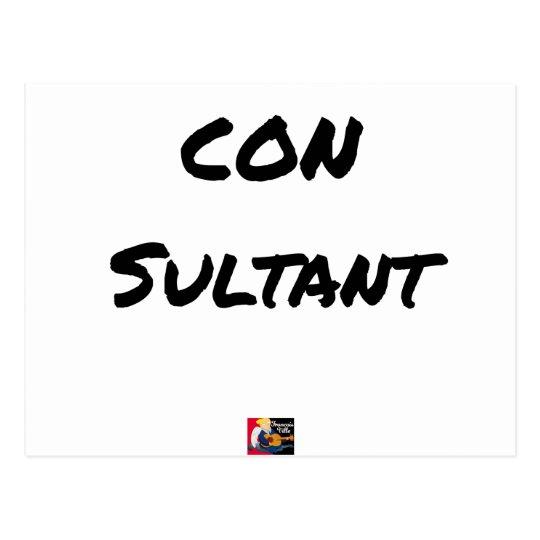IDIOT SULTANT - Word games - François City Postcard