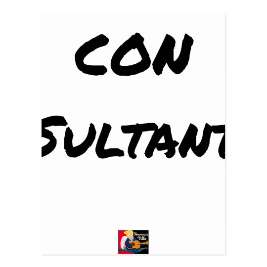 IDIOT SULTANT - Word games - François City Postcard