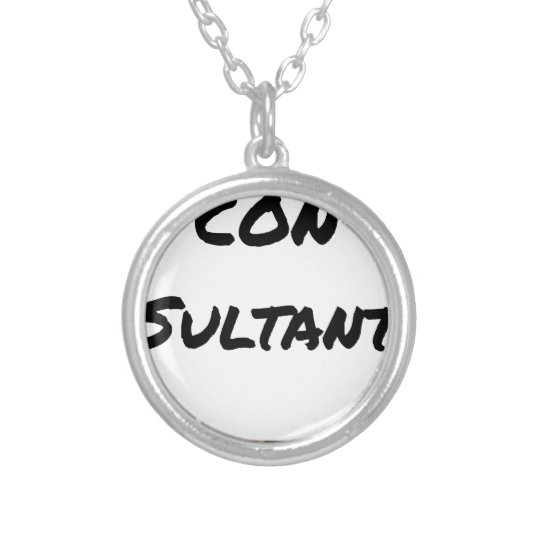 IDIOT SULTANT - Word games - François City Silver Plated Necklace