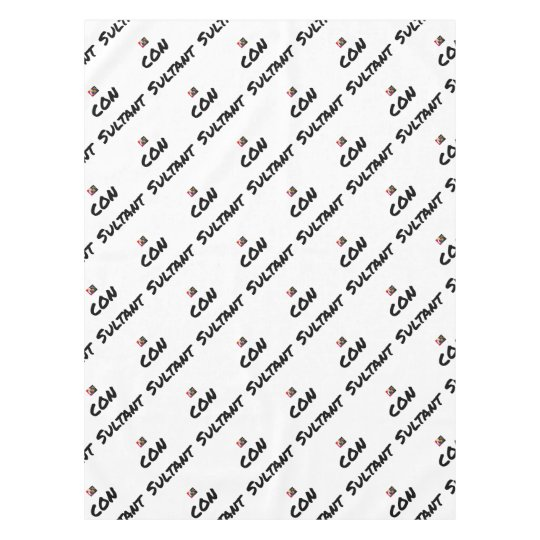 IDIOT SULTANT - Word games - François City Tablecloth