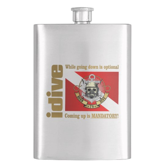 idive (Going Down Is Optional) Hip Flask
