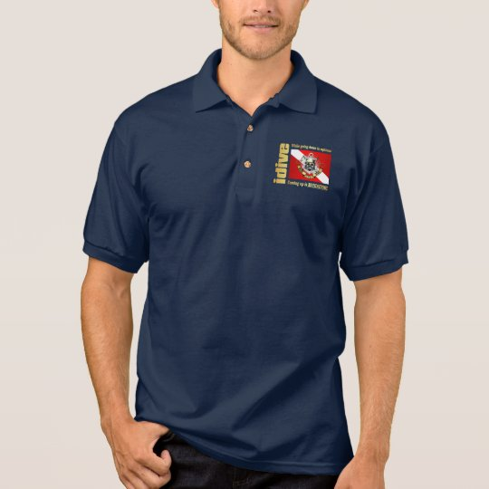 idive (Going Down Is Optional) Polo Shirt