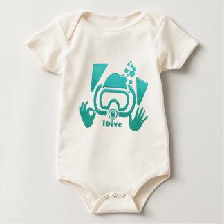 iDive OK Aquamarine Scuba Original Baby Bodysuit