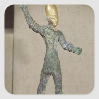 Idol of the god Baal, from Ugarit, Syria Square Sticker