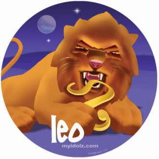 Idolz Leo Pin Photo Sculpture Button