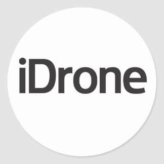 iDrone zone round sticker