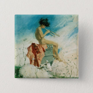 Idyll, 1868 (w/c on paper) 2 inch square button