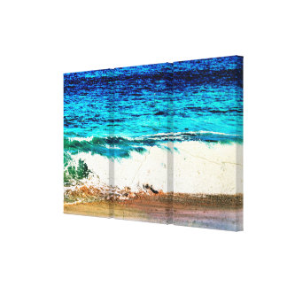 Idyllic Beach Scene Canvas Print