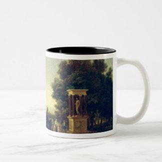 Idyllic Landscape Two-Tone Coffee Mug