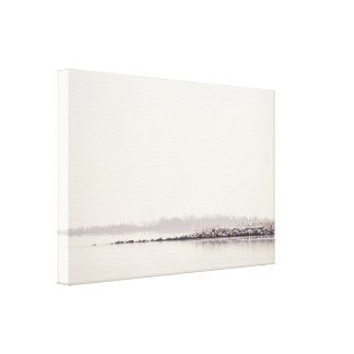 Idyllic landscape with a silent lake canvas print