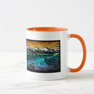 idyllic mug with colored handle