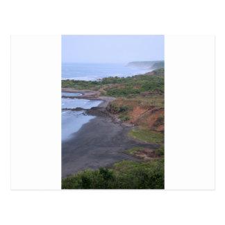 Idyllic tropical coast El Salvador Postcard