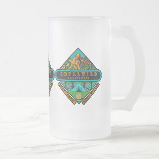 IDYLLWILD CALIFORNIA FROSTED GLASS BEER MUG