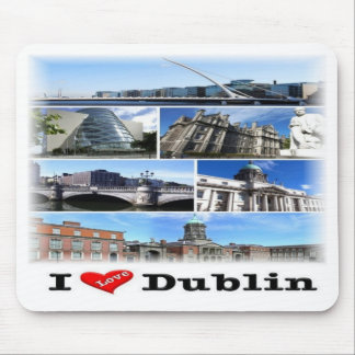 IE Ireland - Dublin - I Love - Mouse Pad