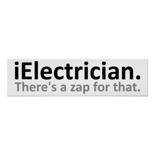 iElectrician Funny Poster