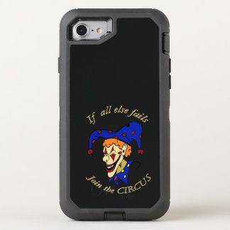 If all else fails join the CIRCUS blue clown OtterBox Defender iPhone 8/7 Case