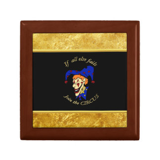 If all else fails join the circus blue foil design gift box