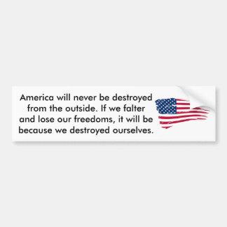 If America Should Falter Bumper Sticker