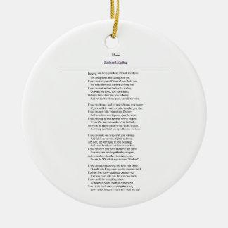 If, by Rudyard Kipling Ceramic Ornament