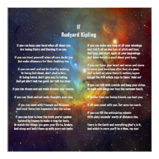 If by Rudyard Kipling Poster